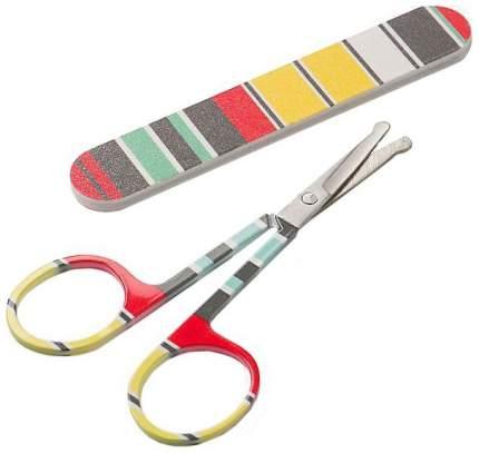 Детский маникюрный набор Happy Baby: ножнички и пилочка stripe