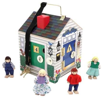 Игровой домик Melissa & Doug Создай свой мир Дом с замками, арт. 2505