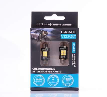 Светодиодные плафонные лампы с обманкой Vizant 36mm, Festoon/C5W/211 600lm 5000k (B344)