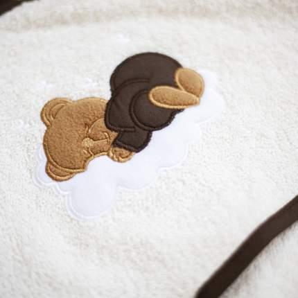 Полотенце Олант с капюшоном после купания, цвет топленое молоко