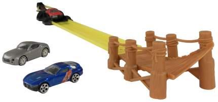 Трек Halsall Toys Int Канатный мост с 3 машинками