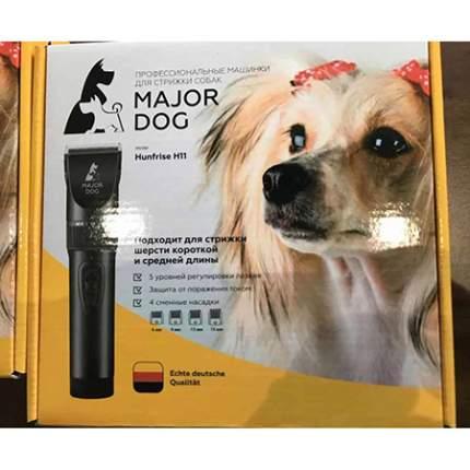 Машинка для стрижки домашних животных Major Dog Hunfrise H11, керамика, черная, 10 Вт