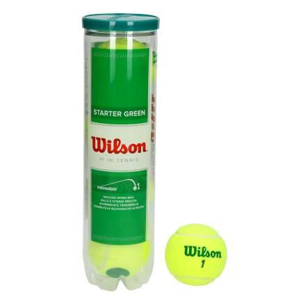 Мяч теннисный Wilson Starter Play Ball уп 4 шт. детский, желтый