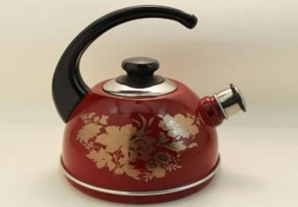 Чайник эмалированный 2,5л бордо олимпия