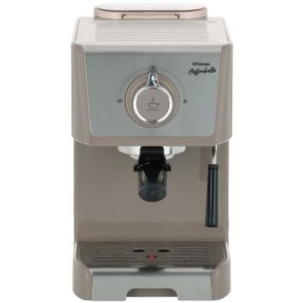 Кофеварка рожкового типа Inhouse Coffeebello Grey/Beige (ICM1802WG)