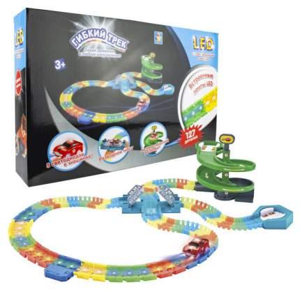 Автотрек 1 Toy Разводной мост 127 деталей