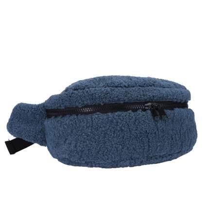 Поясная сумка женская PW-935 серо-голубой ягненок
