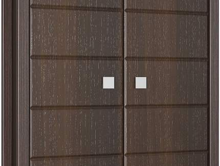 Платяной шкаф Компасс-мебель Изабель ИЗ-12 KOM_IZ12_2 100x55x210, орех темный