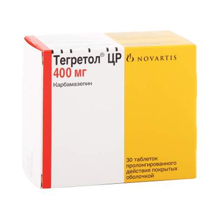 Тегретол ЦР таблетки 400 мг 30 шт.