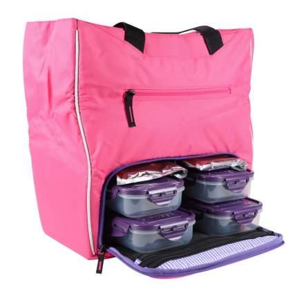 Спортивная сумка Six Pack Fitness Camille Tote pink/purple