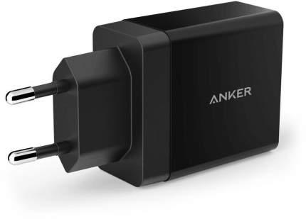 Сетевое зарядное устройство Anker PowerPort 2  USB 4,8A Black