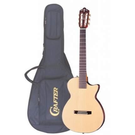 Электроакустическая гитара шестиструнная CRAFTER CT-125C N  Чехол