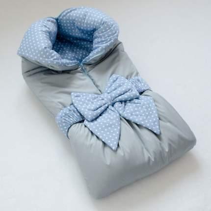 Одеяло-трансформер Евгения Весна Голубой в горошек с серым