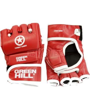 Перчатки для MMA Green Hill Combat Sambo MMR-0027, к/з, красные (M)