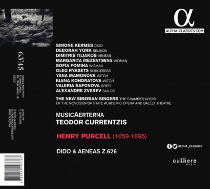 Teodor Currentzis Henry Purcell: Didon & Aeneas (CD)