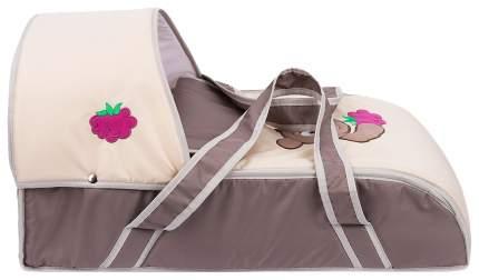 Люлька-переноска для ребенка Slaro Мишка (коричневый+св,бежевый)