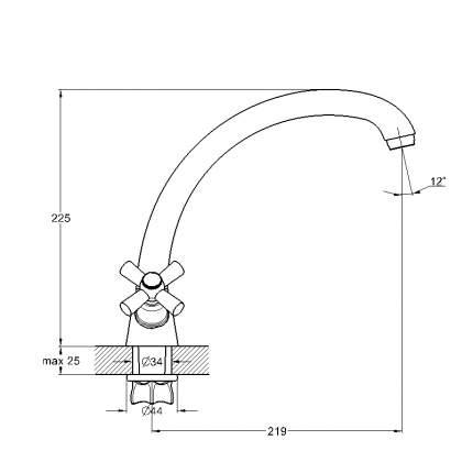 Смеситель для кухонной мойки SOLONE KOA4-A722