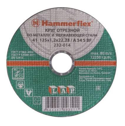 Отрезной диск по металлу для угловых шлифмашин Hammer Flex 232-014 (86894)