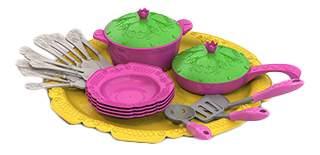 Набор посуды кухонный сервиз волшебная хозяюшка, 23 предмета на подносе