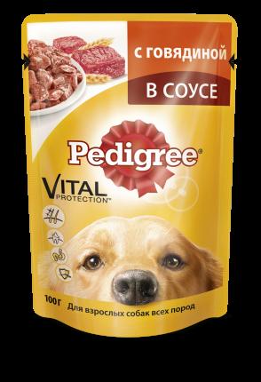 Влажный корм для собак Pedigree Vital, говядина, 100г
