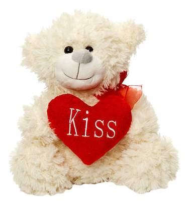 Мягкая игрушка Maxitoys Мишка Арчик с Сердцем (Бежевый) 25 см