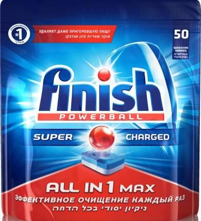Таблетки для посудомоечной машины Finish all in 1 shine&protect 50 штук
