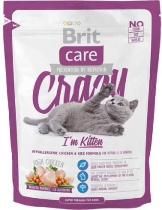 Сухой корм для котят Brit Care Crazy Kitten, курица, 0,4кг