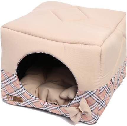Домик для кошек и собак ЗООГУРМАН 45x45x45см бежевый