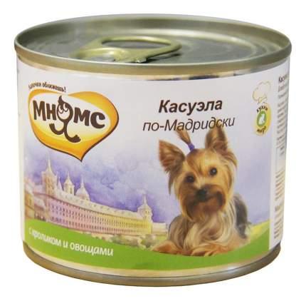Консервы для собак Мнямс, кролик, овощи, 200г