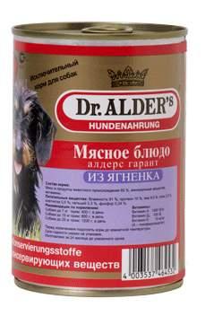 Консервы для собак Dr. Alder's Garant, ягненок, 400г