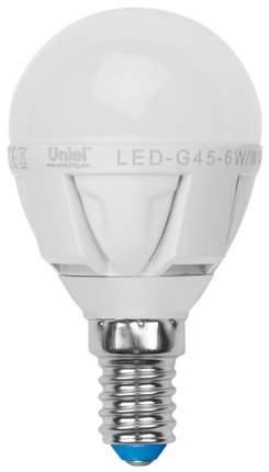 Лампа светодиодная (UL-00000773) E14 7W 3000K шар матовый LED-G45-7W/WW/E14/FR PLP01WH