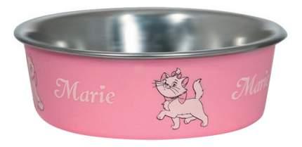Одинарная миска для кошек Triol, сталь, розовый, серебристый, 0.25 л
