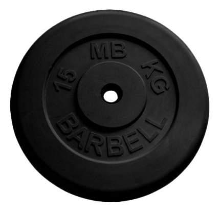 Блин обрезиненный MB Barbell Atlet 15 кг сталь MB-PltB26-15 26 мм черный