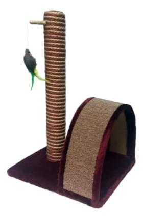 Когтеточка PerseiLine джут/ковролин/игрушка 35х30х54 см