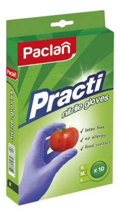 Перчатки для уборки Paclan Нитриловые 10 шт. размер M