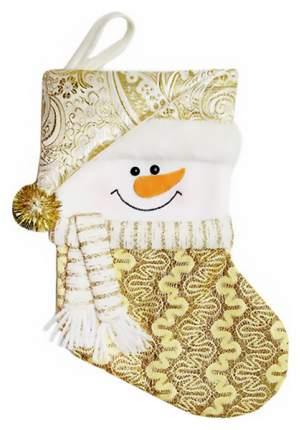 Чулок для подарков Новогодняя сказка Золотистый 30,5 см