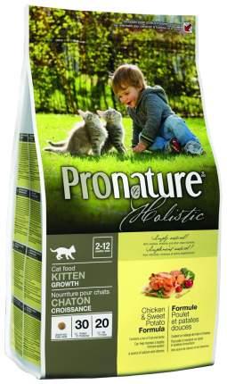 Сухой корм для котят Pronature Holistic Kitten, курица, картофель, 5,44кг
