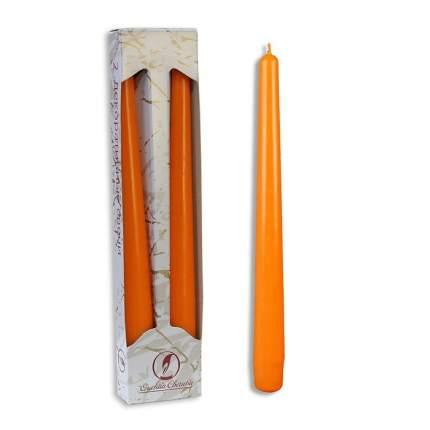 Античные свечи 25 см, 2 шт, оранжевый 001125