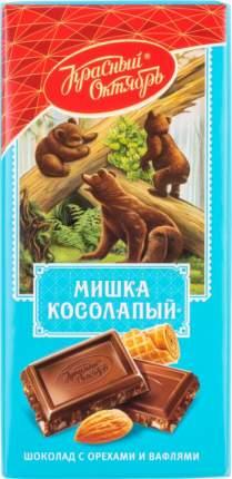 Шоколад Красный Октябрь мишка косолапый с орехами и вафлями 75 г