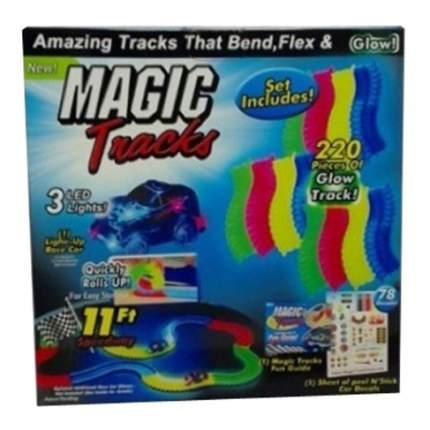 Трек с машинкой magic tracks свет 220 деталей Shantou Gepai B1650671