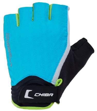 Перчатки для тяжелой атлетики и фитнеса Chiba Lady Air, голубые/зеленые, M