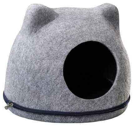 Домик для кошек Triol Кошкин Дом, размер 34х43х34см,, серый