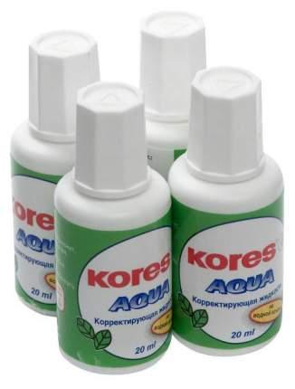 Корректирующая жидкость Kores Aqua 20 мл 4 шт.