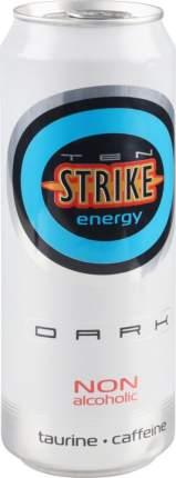 Напиток энергетический Ten Strike energy dark газированный жестяная банка 0.45 л