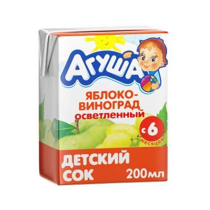 Сок Агуша Яблоко и виноград с 6 мес 200 мл