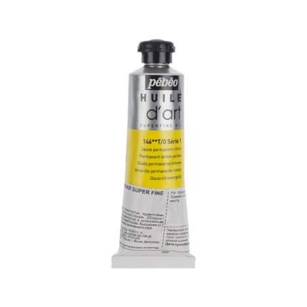 Масляная краска Pebeo Super fine d'Art №1 желтый лимонный 014146 37 мл