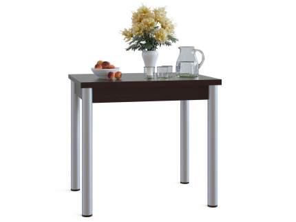 Кухонный стол СОКОЛ СО-1м 80-120х60/80х77,2-75,6 см, коричневый