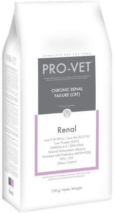 Сухой корм для кошек PRO-VET Cat Renal, при почечной недостаточности, 0,75кг