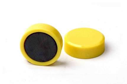 Магнит для магнитной доски FORCEBERG 20 мм, желтый, 10шт.