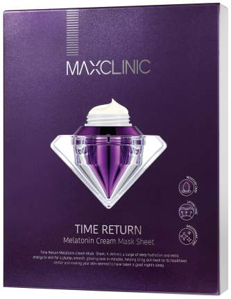 Крем для лица Maxclinic Time Return Melatonin Cream Mask Sheet 28 мл